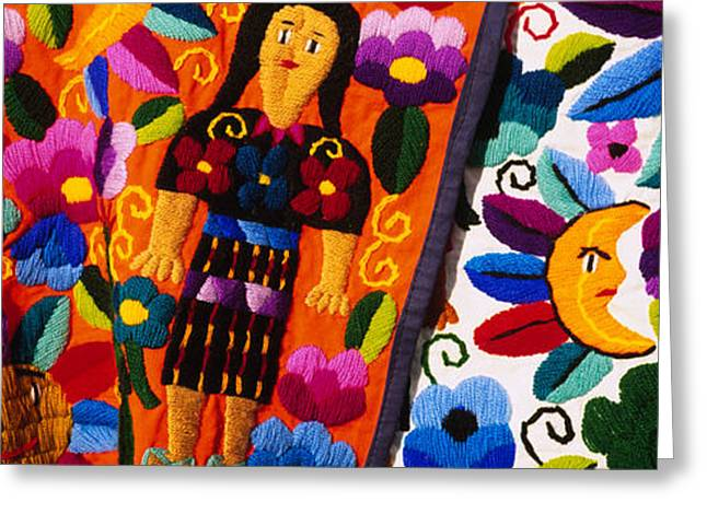 Guatemala Greeting Cards - Close-up Of Textiles, Guatemala Greeting Card by Panoramic Images