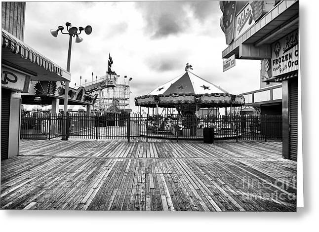 Seaside Heights Greeting Cards - Closed Carousel Greeting Card by John Rizzuto