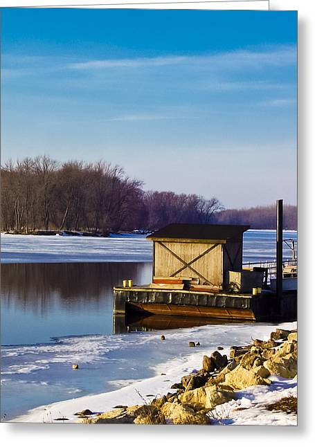 Snowy Evening Greeting Cards - Closed for the Season Greeting Card by Christi Kraft