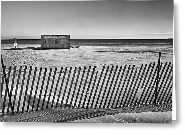 Cabanas Greeting Cards - Closed for the Season Greeting Card by Scott Norris