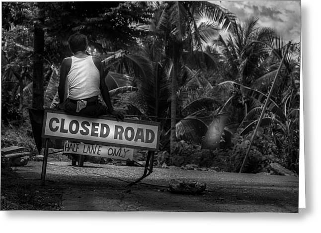 Asien Greeting Cards - Closed Jungle Road In The Philippines Greeting Card by Colin Utz