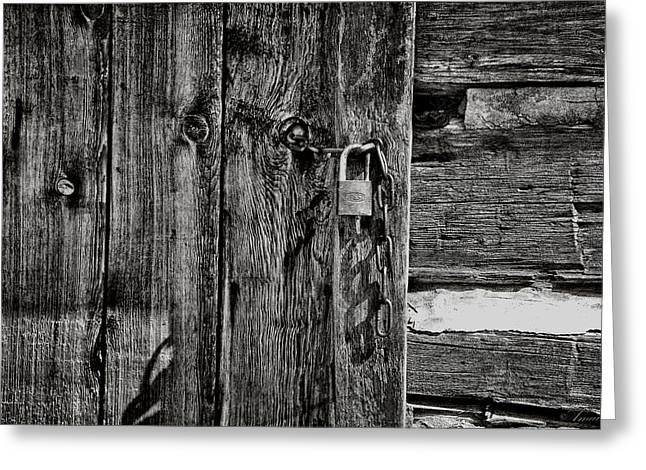 Old Door Greeting Cards - Closed  Greeting Card by Maria Angelica Maira
