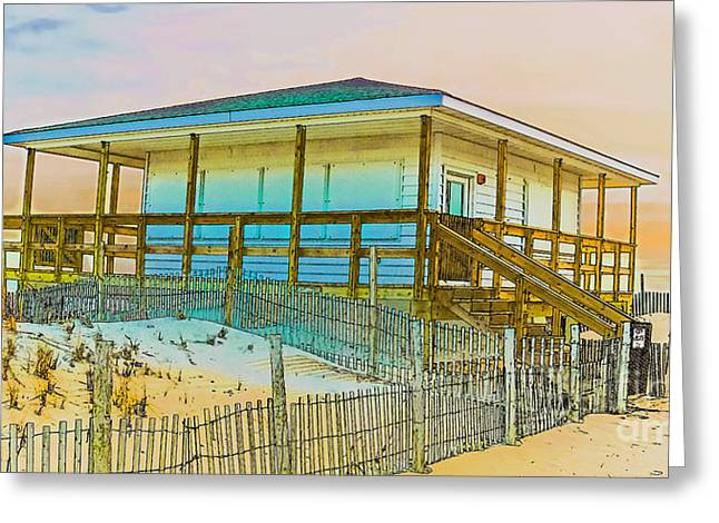 Closed Seaside Heights Boardwalk Greeting Card by Gary Keesler