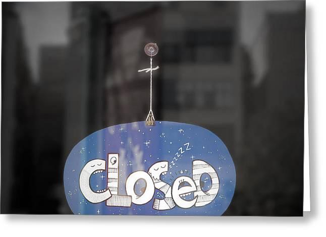 Closed Sleep Tight Greeting Card by Scott Norris