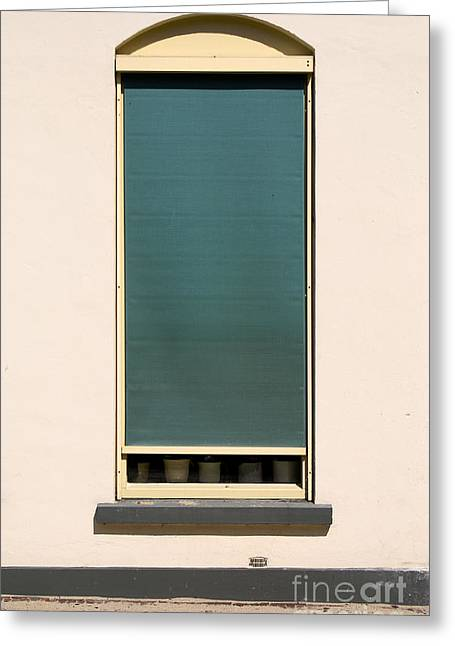 Blinds Greeting Cards - Closed Window Greeting Card by George Siedler