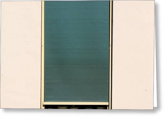 Closed Window Greeting Card by George Siedler