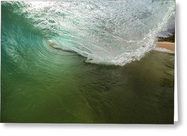 Shorebreak Greeting Cards - Closeout Wave Greeting Card by Brad Scott