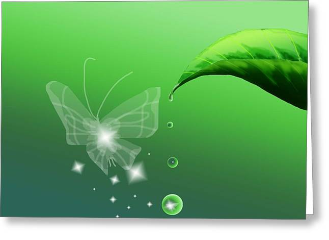 Dewdrops Digital Greeting Cards - Closer Greeting Card by Alice Chen