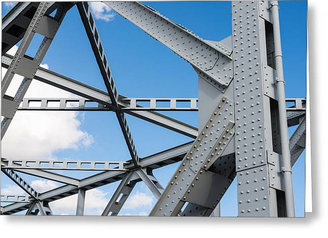 Moerdijk Greeting Cards - Closeup of an old truss bridge in the Netherlands Greeting Card by Ruud Morijn