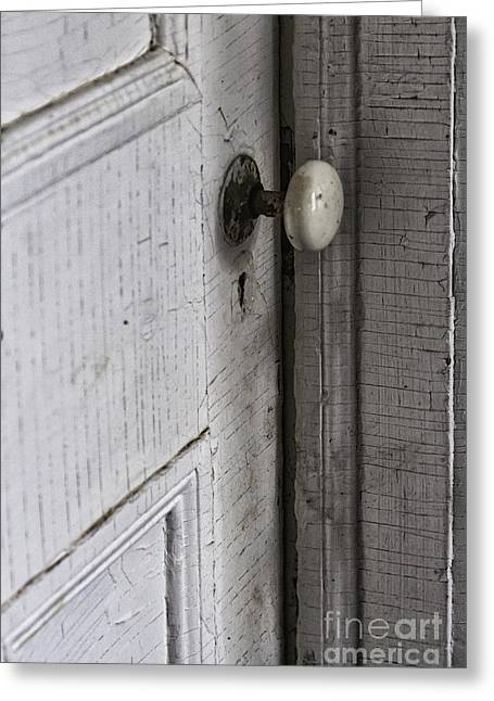 Crack House Greeting Cards - Closing the Door to the Past Greeting Card by Margie Hurwich