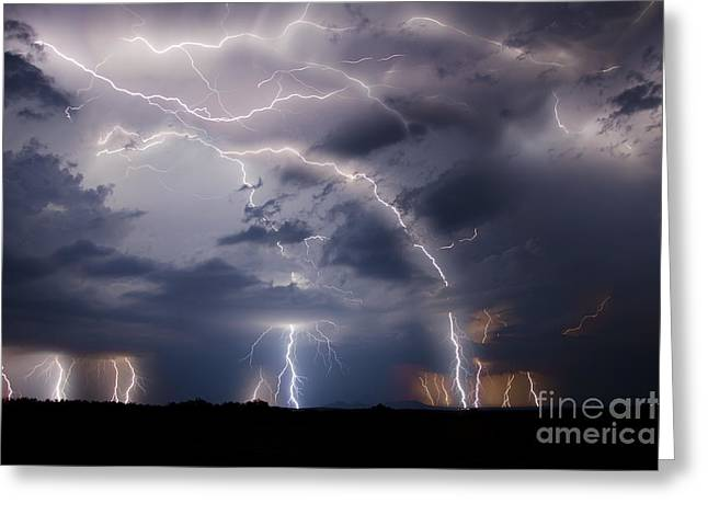 Lightning Photographer Greeting Cards - Clothed In Power Greeting Card by Ryan Smith