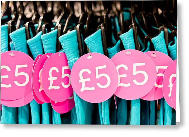 Cheap Greeting Cards - Clothes sale Greeting Card by Tom Gowanlock