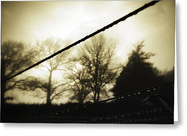 Empty Greeting Cards - Clotheslines  Greeting Card by Les Cunliffe