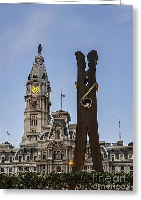 Oldenburg Greeting Cards - Clothespin Sculpture Greeting Card by John Greim
