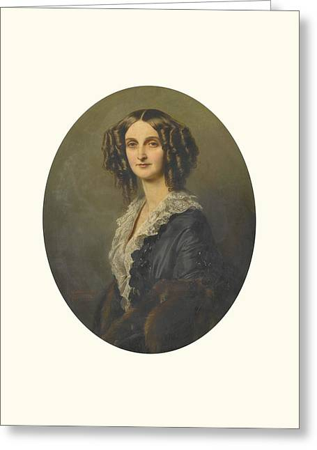Franz Xaver Winterhalter Greeting Cards - Clothilde Grafin Von Wylich Und Lottum Greeting Card by Celestial Images