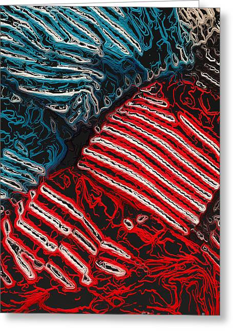 Striped Blouse Greeting Cards - Clothing abstract three Greeting Card by Ken Schulze