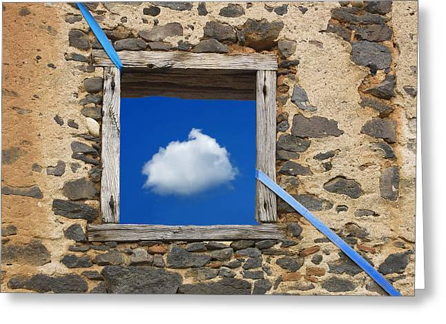 Wall Greeting Cards - Cloud Greeting Card by Bernard Jaubert