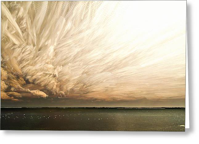 Cloud Chaos Greeting Card by Matt Molloy