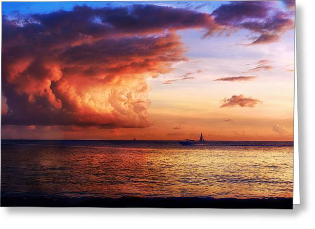 Boat Cruise Greeting Cards - Cloud Cover Greeting Card by Camille Lopez