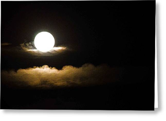 Recently Sold -  - Moon Beach Greeting Cards - Cloud Cradle  Greeting Card by Mary Hahn Ward