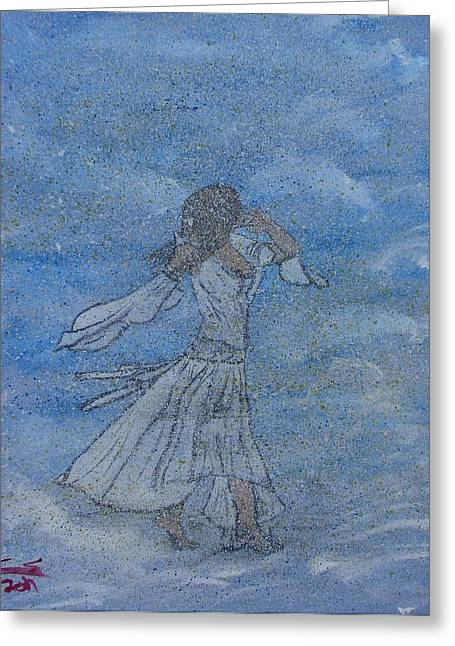 Lines Of The Hands Greeting Cards - Cloud Dance Greeting Card by Caleb Shepard
