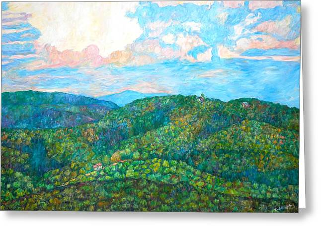 Impressionist Greeting Cards - Cloud Dance on the Blue Ridge Greeting Card by Kendall Kessler