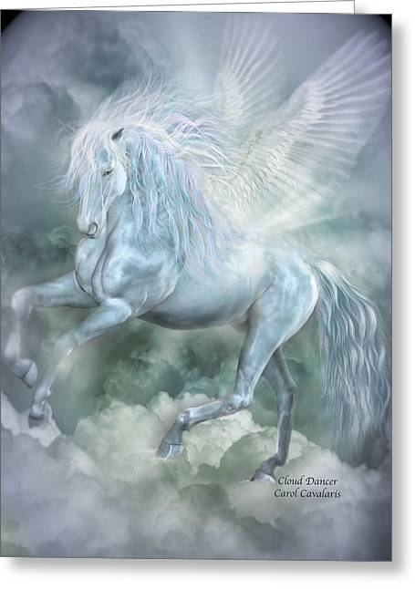 Cloud Dancer Greeting Card by Carol Cavalaris