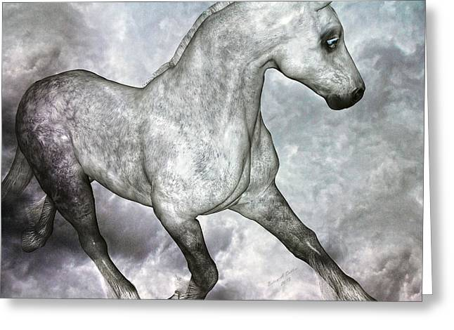 Grey Clouds Mixed Media Greeting Cards - Cloud Greeting Card by Betsy C  Knapp