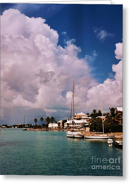 Ocean Art Photgraphy Greeting Cards - Cloud Faces St. Georges Bermuda Greeting Card by Marcus Dagan