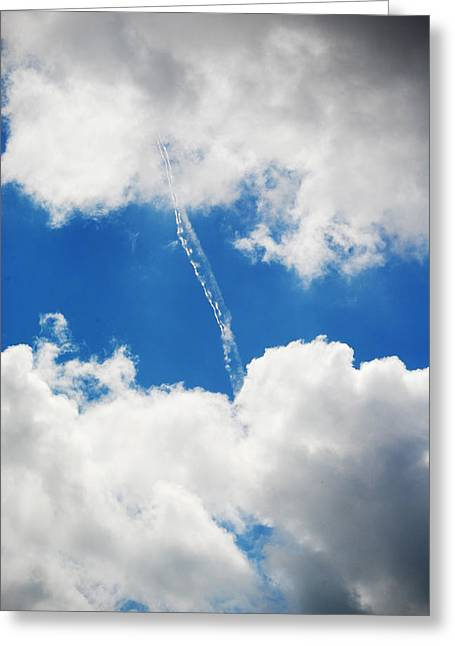 Cloud Fill Greeting Card by Diaae Bakri