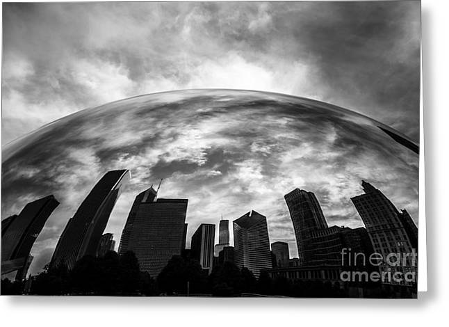 Editorial Photographs Greeting Cards - Cloud Gate Chicago Bean Greeting Card by Paul Velgos