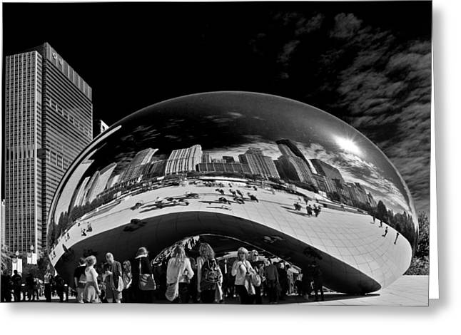 The Bean Greeting Cards - Cloud Gate Chicago - The Bean Greeting Card by Christine Till