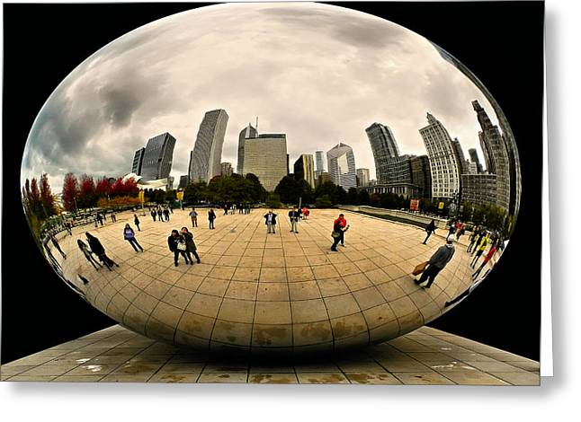 The Bean Greeting Cards - Cloud Gate Fantasy Greeting Card by Joe Bonita