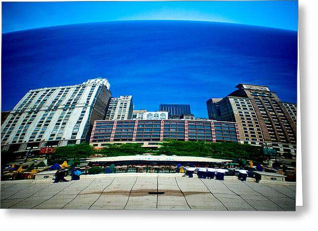 Stainless Steel Greeting Cards - Cloud Gate I Greeting Card by Roger Passman