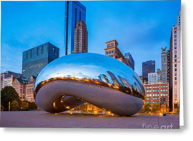 Millennium Park Greeting Cards - Cloud Gate Number 3 Greeting Card by Inge Johnsson