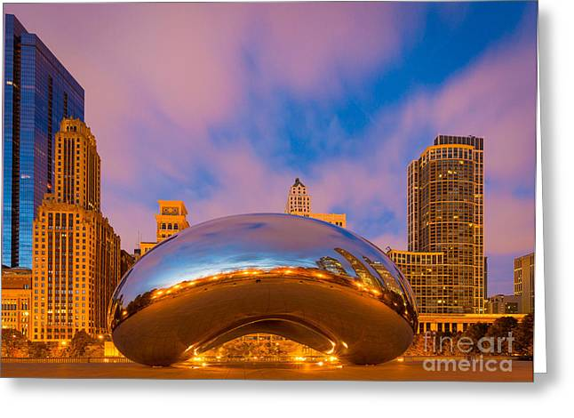Millennium Park Greeting Cards - Cloud Gate Number 4 Greeting Card by Inge Johnsson