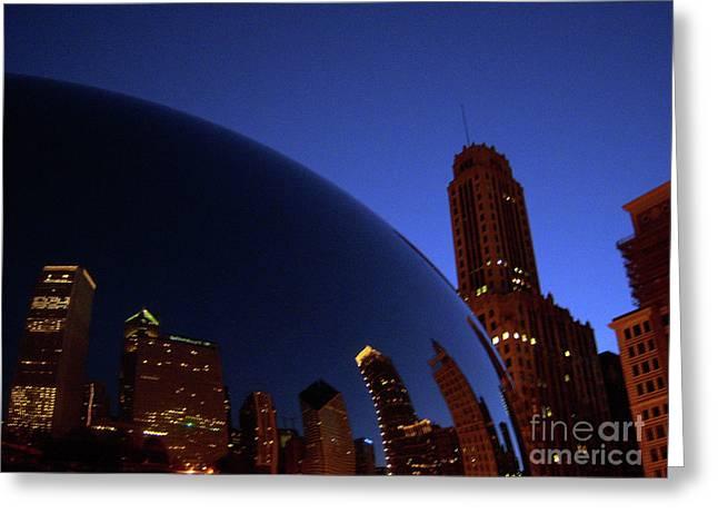 Cloud Gate The Bean Millenium Park Closer Greeting Card by Heather Kirk