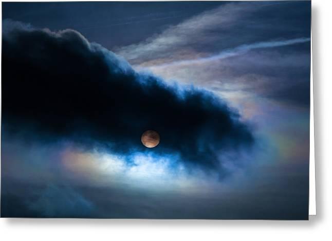 Ghastly Greeting Cards - Moon-Like Sun Sky Greeting Card by Romuald Gordon