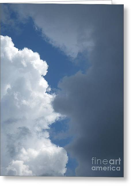 Storm Cloud On The Horizon Greeting Cards - Cloud Layers 2 Greeting Card by Robert Birkenes