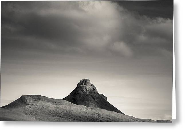Clouds Over Stac Pollaidh Greeting Card by Dave Bowman