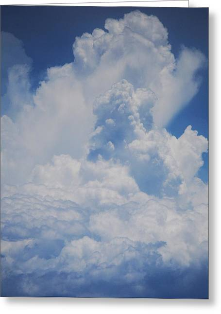 Ghost Like Greeting Cards - Cloud Portrait 1 Greeting Card by Marcus Dagan
