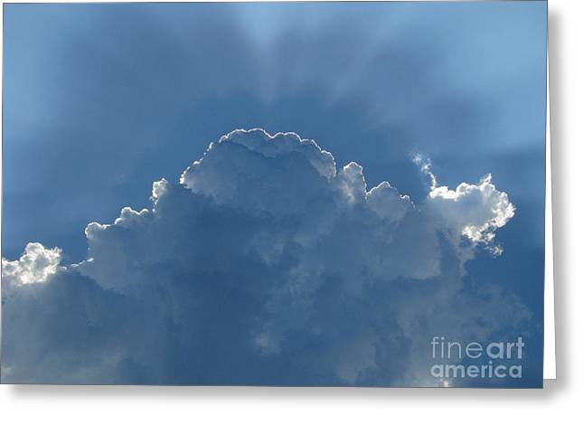 Radiance Greeting Cards - Cloud radiance Greeting Card by Kiril Stanchev