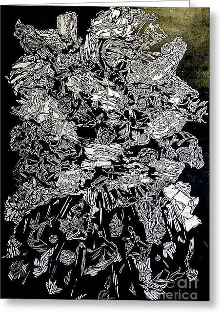 Printmaking Reliefs Greeting Cards - Cloud Greeting Card by Ray Barsante