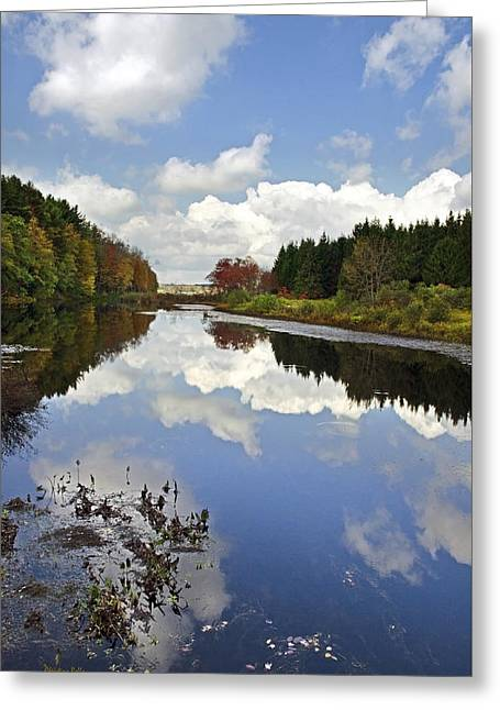 New Greeting Cards - Autumn Lake Reflection Landscape Greeting Card by Christina Rollo