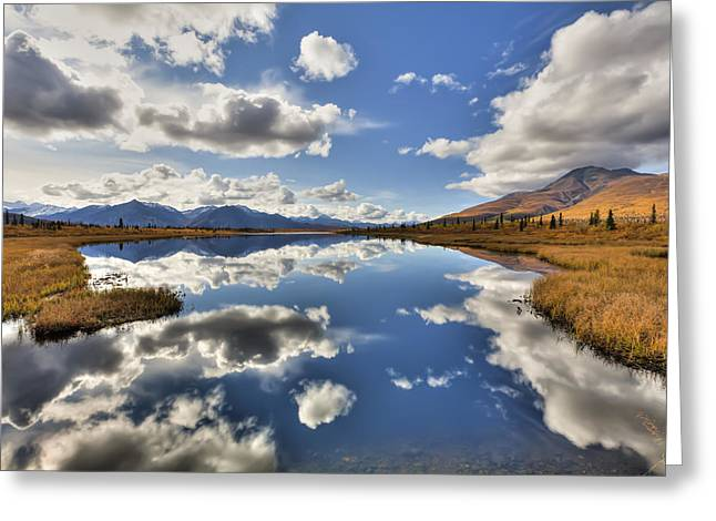 Hdr Landscape Greeting Cards - Cloud Reflections On Knob Lake Along Greeting Card by Lucas Payne
