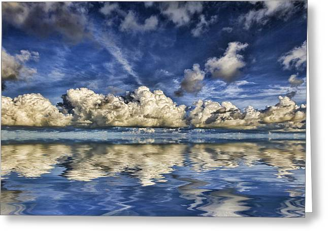 Ocean. Reflection Greeting Cards - Cloud Reflections V3 Greeting Card by Douglas Barnard