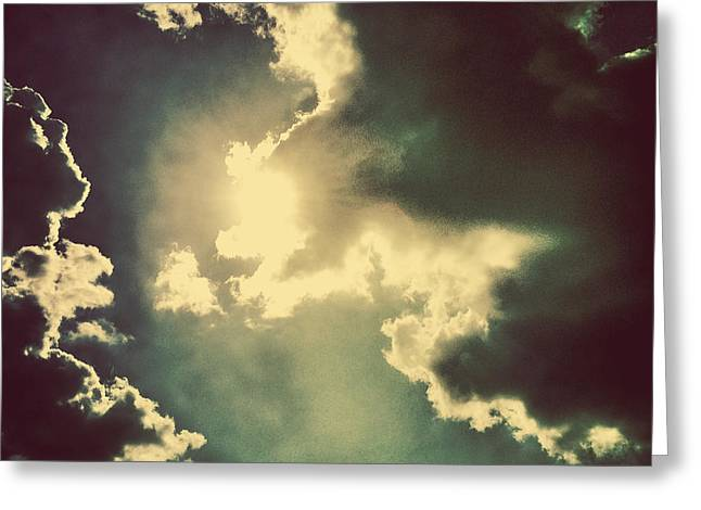Clouds And Sun Greeting Cards - Cloud Shine Greeting Card by Lori Knisely