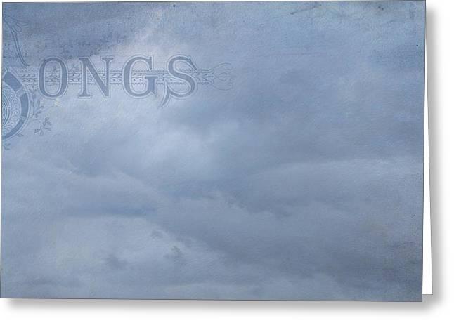 Digital Art Greeting Cards - Cloud Songs Greeting Card by Cassie Peters