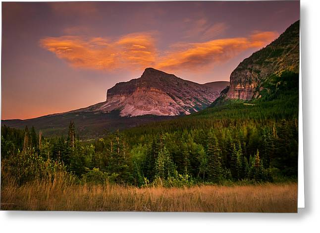 Many Glacier Greeting Cards - Cloud Spirits Glacier National Park  Greeting Card by Rich Franco