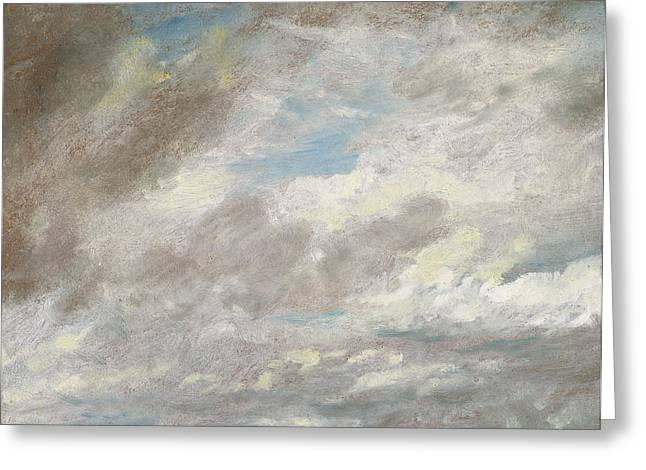 System Paintings Greeting Cards - Cloud Study Greeting Card by John Constable